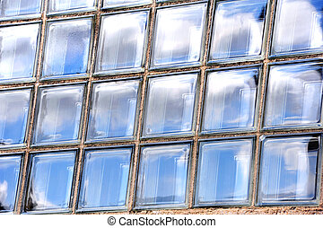 Background Glass Panes - Background image shows sky...