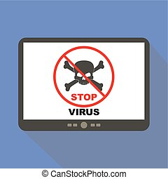 Stop Virus Tablet Icon