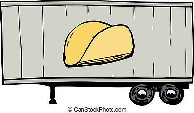 Truck Trailer with Taco Symbol