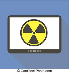 Radiation Alert Tablet Icon Vector