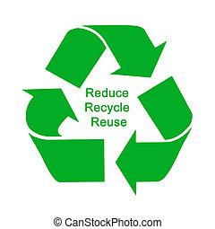 いかに, 保護しなさい, 減らしなさい, リサイクルしなさい, 再使用,  environment: