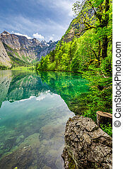Stunning Obersee lake in Alps, Germany