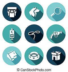 Vector Set of Animal Protection Icons Protest, Animal,...