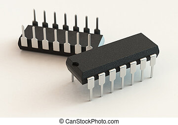 DIP chip package. Technology, electronic industry, research...
