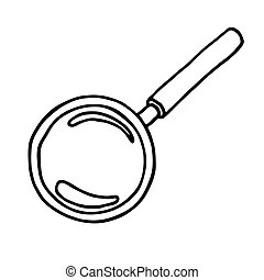 Magnifier icon. Vector illustration