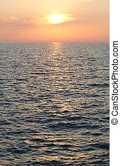 Sunset over Adriatic Sea Vertical