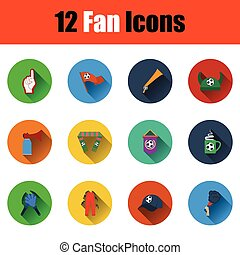 Set of twelve soccer icons in ui colors Vector illustration...