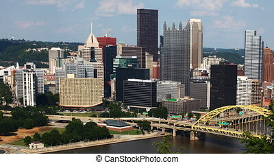 Timelapse of the Pittsburgh skyline - A Timelapse of the...
