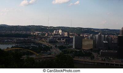 Motion controlled timelapse Pittsburgh city center - A...