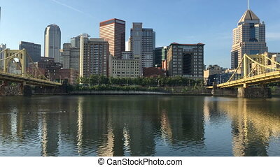 View of the Pittsburgh city center - A View of the...