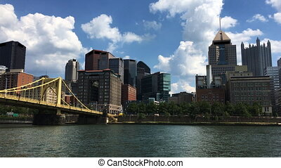 View Pittsburgh skyline on a sunny day - A View Pittsburgh...