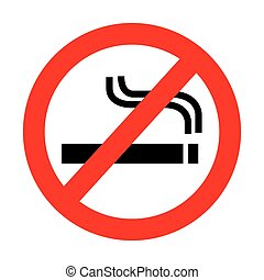 dont smoke prohibition sign