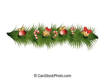 versiering, krans, Kerstmis, pictogram