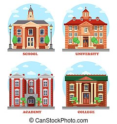 School and university, academy and college buildings....