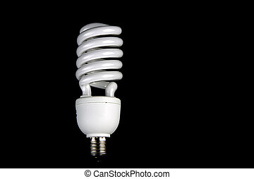 Low Energy Lamp on a Black Background