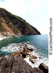 sea view and cliffs in riomaggiore f - sea view and cliffs...