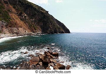 sea view and cliffs in riomaggiore g - sea view and cliffs...