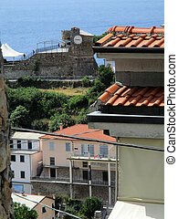 view of the alleys of the village of Riomaggiore f - view of...
