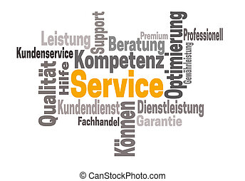 service support kompetenz (in german support competency)...
