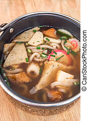 Miso Soup Udon - Japanese Cuisine Miso Soup Udon