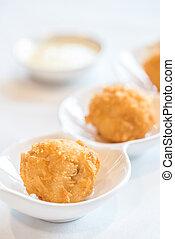 Fried Shrimp ball - Chinese dim sum Fried Shrimp ball -...