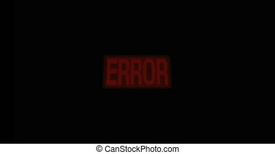 Zoom error screen sign blinking red