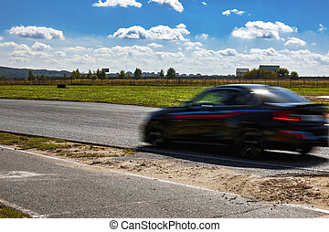 Auto, Schwarz, schnell