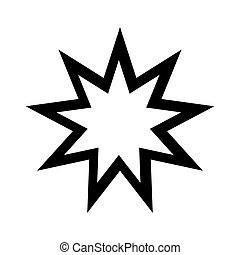 Baha'i Icon. Religion symbol. Vector illustration....