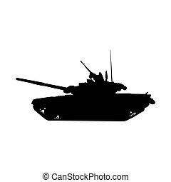 Military tank silhouette.