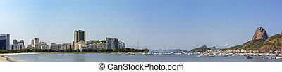 Panorama of Sugar Loaf and Botafogo cove - Panoramic image...