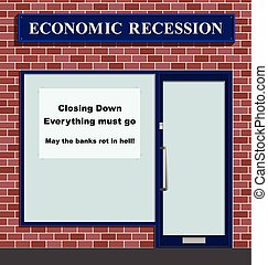 Shop closing down - Retail unit closing down due to economic...