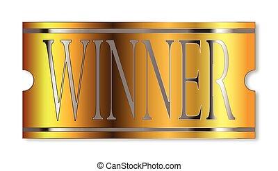 Winner Ticket In Gold