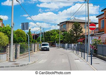 Cars in Rovigo - Rovigo, Italy - June, 17, 2016: car parking...