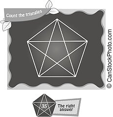 BW Count the triangles 1