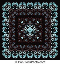 Bandana Pattern. Ethnic Hand drawn Vector Illustration.