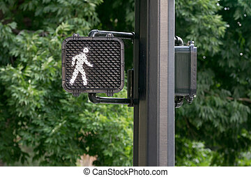 Traffic signal - Signal letting the pedestrian know it's...