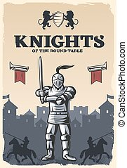 Knights Of Round Table Poster - Knights of round table...