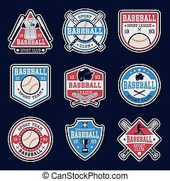 Baseball Colored Emblems