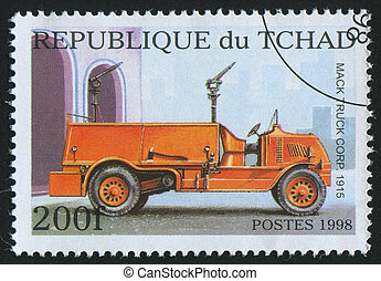 postmark - CHAD - CIRCA 1998: stamp printed by Chad, shows...