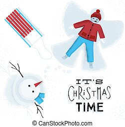 Christmas time snow angel - Its Christmas time with snow...