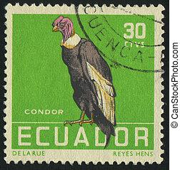 postmark - ECUADOR - CIRCA 1963: stamp printed by Ecuador,...