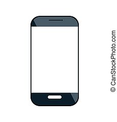 smartphone digital technology isolated vector illustration...