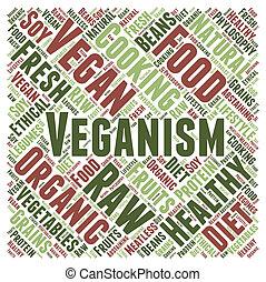Veganism word cloud concept