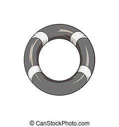 Lifeline icon, black monochrome style - Lifeline icon in...