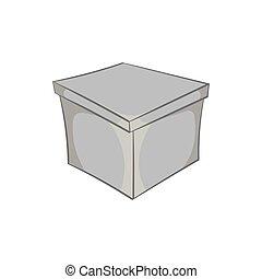 Square box icon, black monochrome style - Square box icon in...