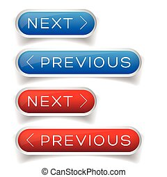 Next Previous button red and blue