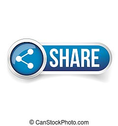 Share button vector blue