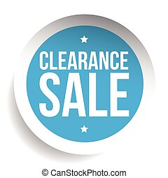 Clearance Sale blue vector label or tag