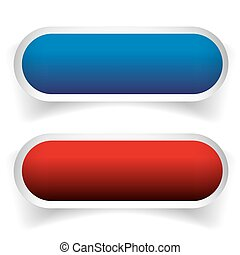 Empty button set blue and red