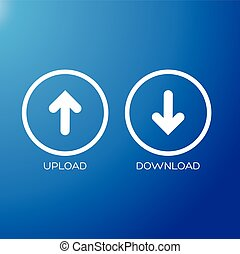 Upload Download icon symbol vector